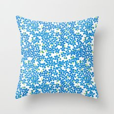 Little Bits of Blue Throw Pillow