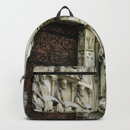 Notre Dame Cathedral Paris Detail Backpack