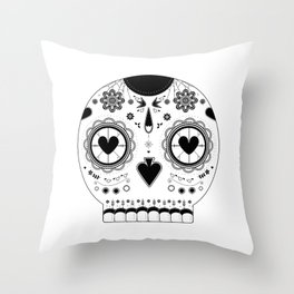 Candy skull Throw Pillow