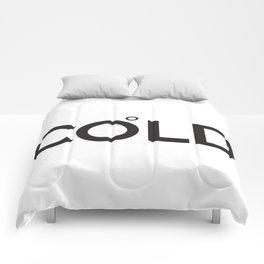 COLD (Celsius Symbol) Comforters