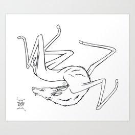 Stilted Deer Art Print