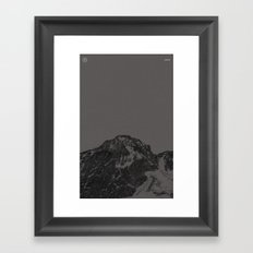Nature / Winter Mountains Framed Art Print