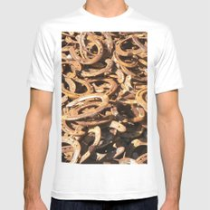 good luck - horseshoes White Mens Fitted Tee MEDIUM