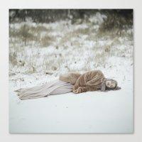 frozen Canvas Prints featuring Frozen by Jovana Rikalo