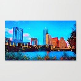 Austin, Texas - 2010 - Graphic 3 Canvas Print