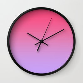 Pink to Lavender Ombre Gradient Wall Clock