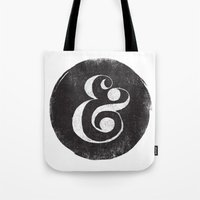 ampersand Tote Bags featuring AMPERSAND by Matthew Taylor Wilson