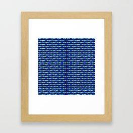 Blue luminesence Framed Art Print