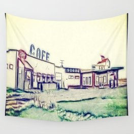 Dog River and Corner Gas Wall Tapestry