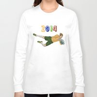 brazil Long Sleeve T-shirts featuring Brazil 2014 by Lost Link Art
