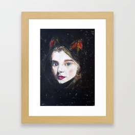 Loving eyes. Framed Art Print