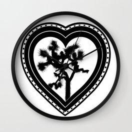 Heart of the Hi-Desert™ Joshua Tree by CREYES Wall Clock