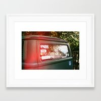 vw bus Framed Art Prints featuring vw bus by MacKenna Carney