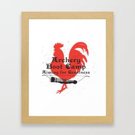 Archery Boot Camp >>-----> Aiming for Greatness Framed Art Print