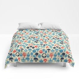 Mushroom Boom Comforters