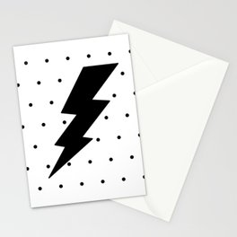 Lightning bolt and dots Stationery Cards
