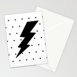 Lightning bolt and dots Stationery Cards