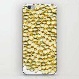 Liquid Softgels Pills Vitamins Art iPhone Skin