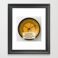 Halo Clock Framed Art Print