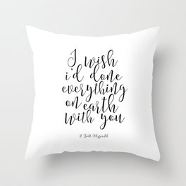 Love Sign I Like Your Face Valentines Day Decor Gift For Her Romantic Gifts For Him Engagement Gift Throw Pillow