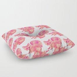 Watercolor Raccoon – Pink Palette Floor Pillow
