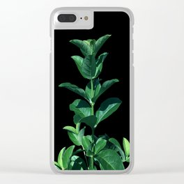 Leaves Viburnum Clear iPhone Case