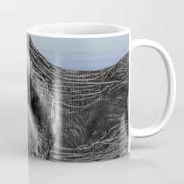 Dark flower and blue rivers Coffee Mug