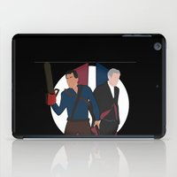 evil dead iPad Cases featuring Evil Dead meets Doctor Who by DocPastor