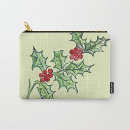 Holly Sprig (lite green) Carry-All Pouch