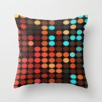 disco Throw Pillows featuring Disco by DuckyB