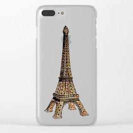 Voyage à Paris (Watercolor) Clear iPhone Case