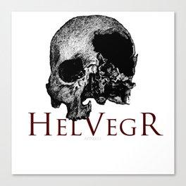 Helvegr Skull Canvas Print