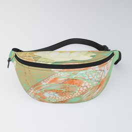 Carp Koi Water Lily Pond Fanny Pack