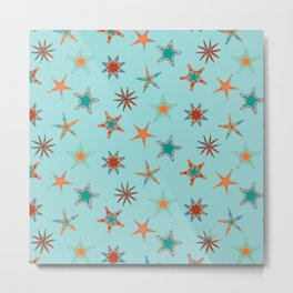 Fish tales: Starfish pattern 1d Metal Print