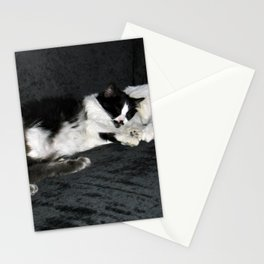 3 cats lounging Stationery Cards