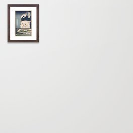 Woman Yelling at Cat Meme - Ukiyoe style (2 in series of 2) Art Print Framed Art Print