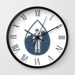 A Drop In Space Wall Clock