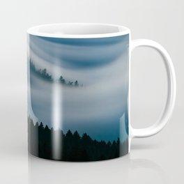 clouds mountain trees mount tamalpais united states Coffee Mug