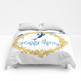 Bluebirds and Blossoms Comforters