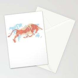 American Bull Index Capitalism Stationery Cards