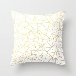 Ab Outline White Gold Throw Pillow