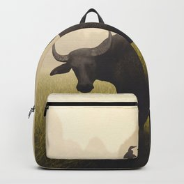 Water Buffalo And Egrets Backpack