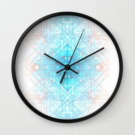 Techno-Lattice: Summer Skies Wall Clock