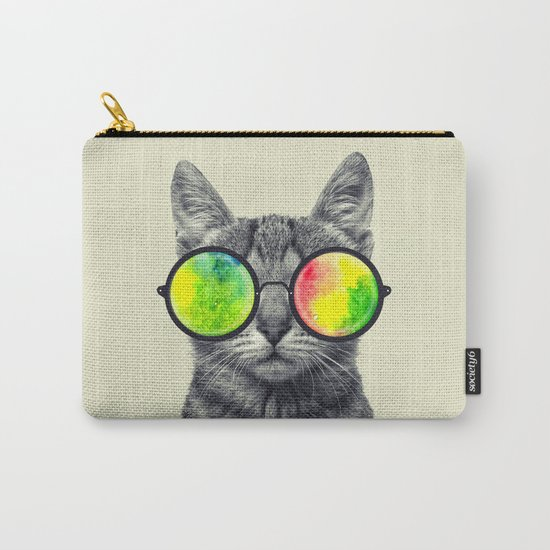psychedelic feline Carry-All Pouch