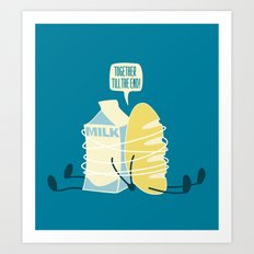 TOGETHER TILL THE END! Art Print