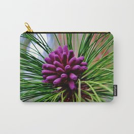 Purple Pine Cones Carry-All Pouch