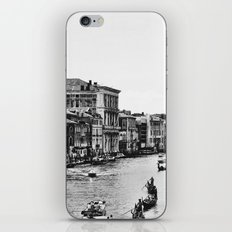Along the Grand Canal b&w iPhone & iPod Skin