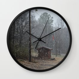 snowy afternoon Wall Clock