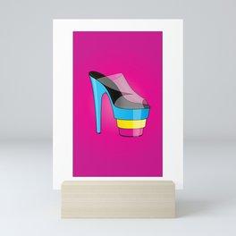 The CMYK High-Heel Stiletto Mini Art Print