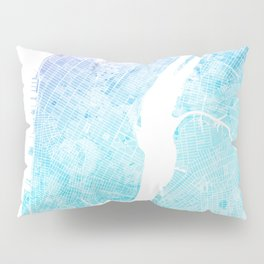New York City Watercolor Map #5 Pillow Sham